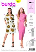 6420 Burda Pattern: Ladies Dress